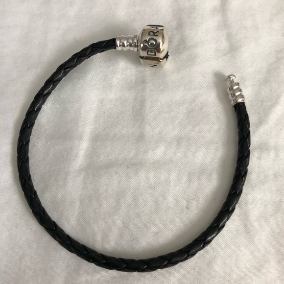 3256ba678 Pandora black leather bracelet. M_5b6bb6cfc2e9fe5061d5623d